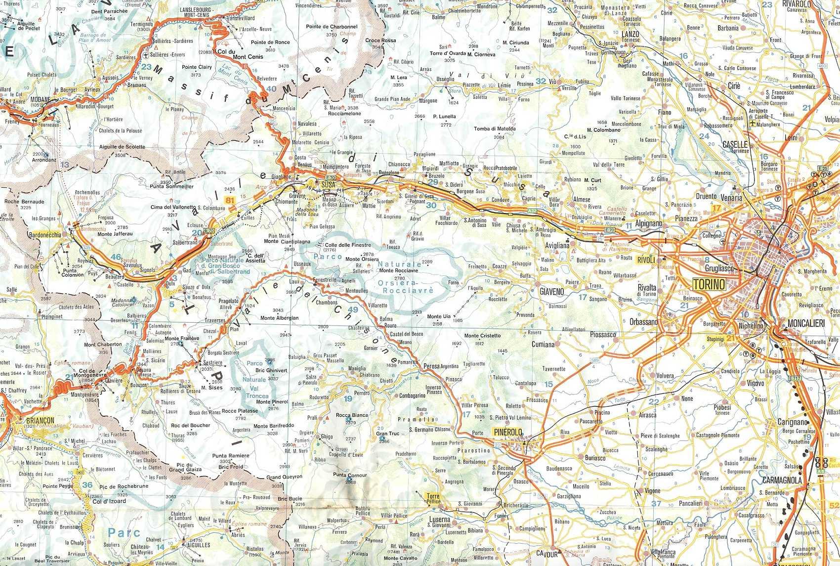 Bardonecchia Cartina Geografica.Bed And Breakfast L Archivolto Mappa Stradale