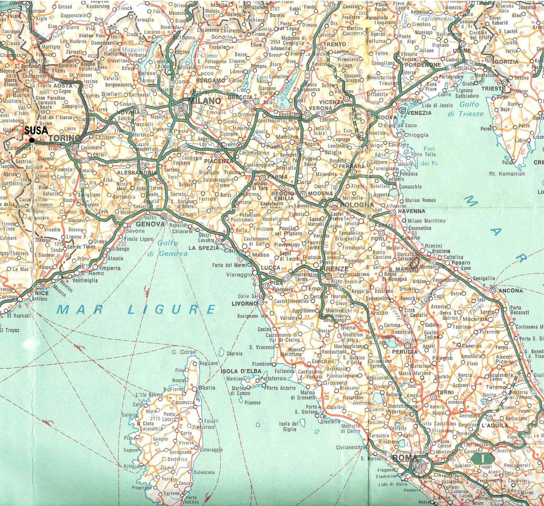 Cartina Nord Italia Geografica.Bed And Breakfast L Archivolto Mappa Stradale